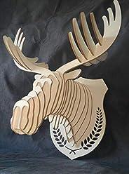Trofeo alce cervo testa legno arredo design decorazione casa negozio - Art déco