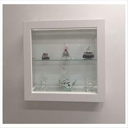 Vetrinetta da parete modello quadro 50x50 art.vmbr6tc-qd50tr (bianca)