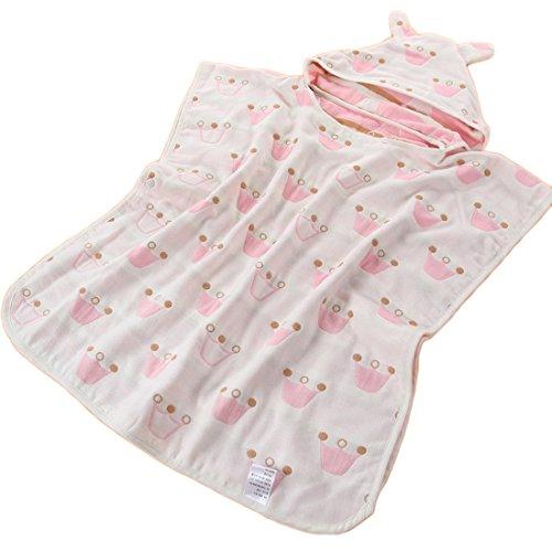 100% Baumwolle Jungen und Mädchen Bade Poncho mit Kapuze Baby-Strandtuch Kinder Badetuch von 1-4 Jahren Strand 65*60cm