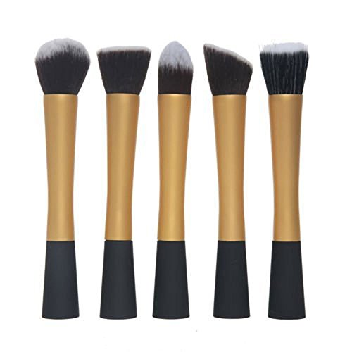 Primi utile Ensemble de brosse de maquillage professionnels 5 pièces Doré