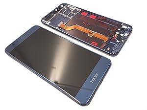 Original Huawei Honor 8 LCD Display Touch Screen Front Glas Scheibe Rahmen blue/blau