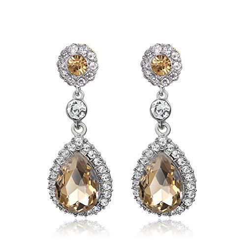 Beelittle Art Deco Vintage Flapper Stil Kristall Ohrringe für 1920er Gatsby Party Braut oder Prom (A28)