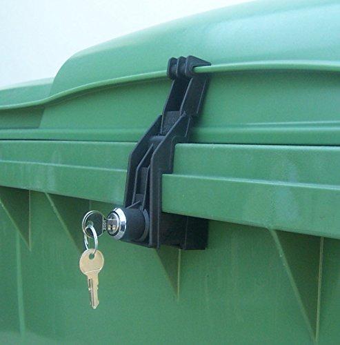 Müllcontainerverschluss, 1100 Liter für Otto, Flachdeckel, GS -