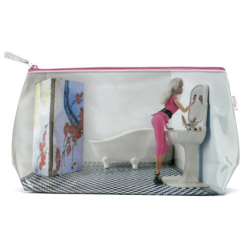 Catseye Kulturtasche u. Kulturbeutel - blond und pink