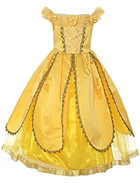 ReliBeauty Ragazza Gonna Girls Dresses Bow Senza Maniche Belle Principessa Abito Costumi Rosa Fiore Vestito