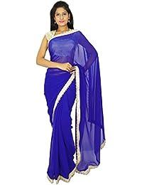 Indische traditionelle Partei-Abnutzungs-Sari Designer Georgette Hochzeit Saree