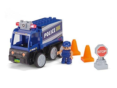 Revell Control Junior RC Polizei Car - ferngesteuertes Polizei Auto mit 40 MHz Fernsteuerung, kindgerechte Gestaltung, ab 3, mit Teilen und Spielfigur zum Bauen und Spielen, LED-Blinklichtern - 23004