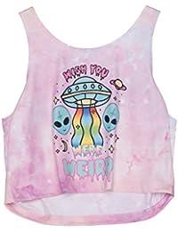 Fringoo - Camiseta sin Mangas - para Mujer