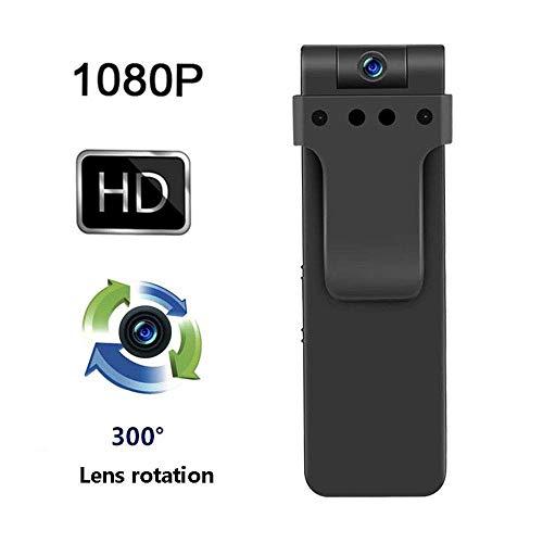 NBZH Mini Digital Audio Recorder Mit Versteckter 270 Grad 1080P HD Kamera, Magnet Adsorption Infrarot Nachtsicht Video Camcorder Gerät Mit 32 GB Speicherkarte Digital Audio Portable Dvr