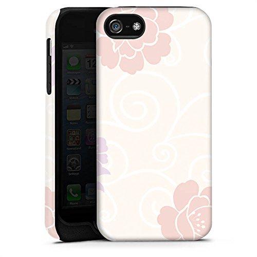 Apple iPhone X Silikon Hülle Case Schutzhülle Flower Blumen Muster Tough Case matt