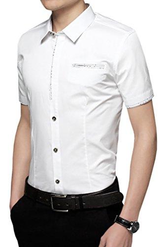 Starepe - Chemise habillée - Homme Blanc - #0158_White