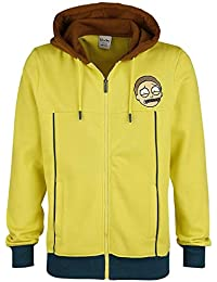 Rick and Morty Sweatshirt Morty Novelty Hoodie Yellow-M