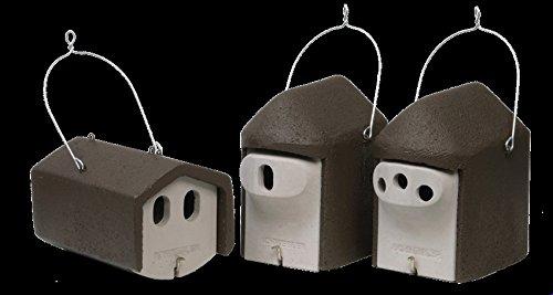 Schwegler Naturschutzprodukt Set II Garten räubersicher 3 Nisthöhlen für Gartenvögel