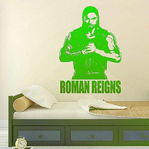 zqyjhkou Roman Reigns Wandtattoo Wrestlemania WWE Star Wrestlers 3 109cmX78cm