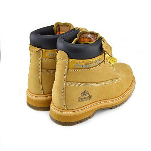 Kick Footwear - Hommes New Comfort Work, Bottes De Sécurité, Chaussures De Sécurité Bottes De Neige Pour Hommes Honey