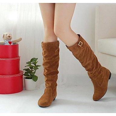 Wuyulunbi@ Scarpe Donna Autunno Inverno Comfort Combattere Stivali Stivali Stivali Mid-Calf Per Casual Marrone Giallo Nero US7.5 / EU38 / UK5.5 / CN38