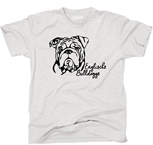 Siviwonder Unisex T-Shirt ENGLISCHE BULLDOGGE Bulldog Portrait Hund Hunde Wilsigns Ash