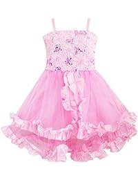 Sunny Fashion - Vestido con estampado floral para niña rosa