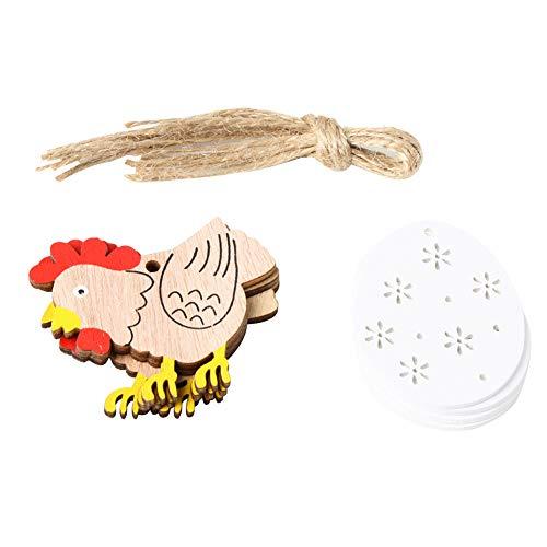 NAttnJf 8 Piezas Madera Pascua Pollito Huevo gallina
