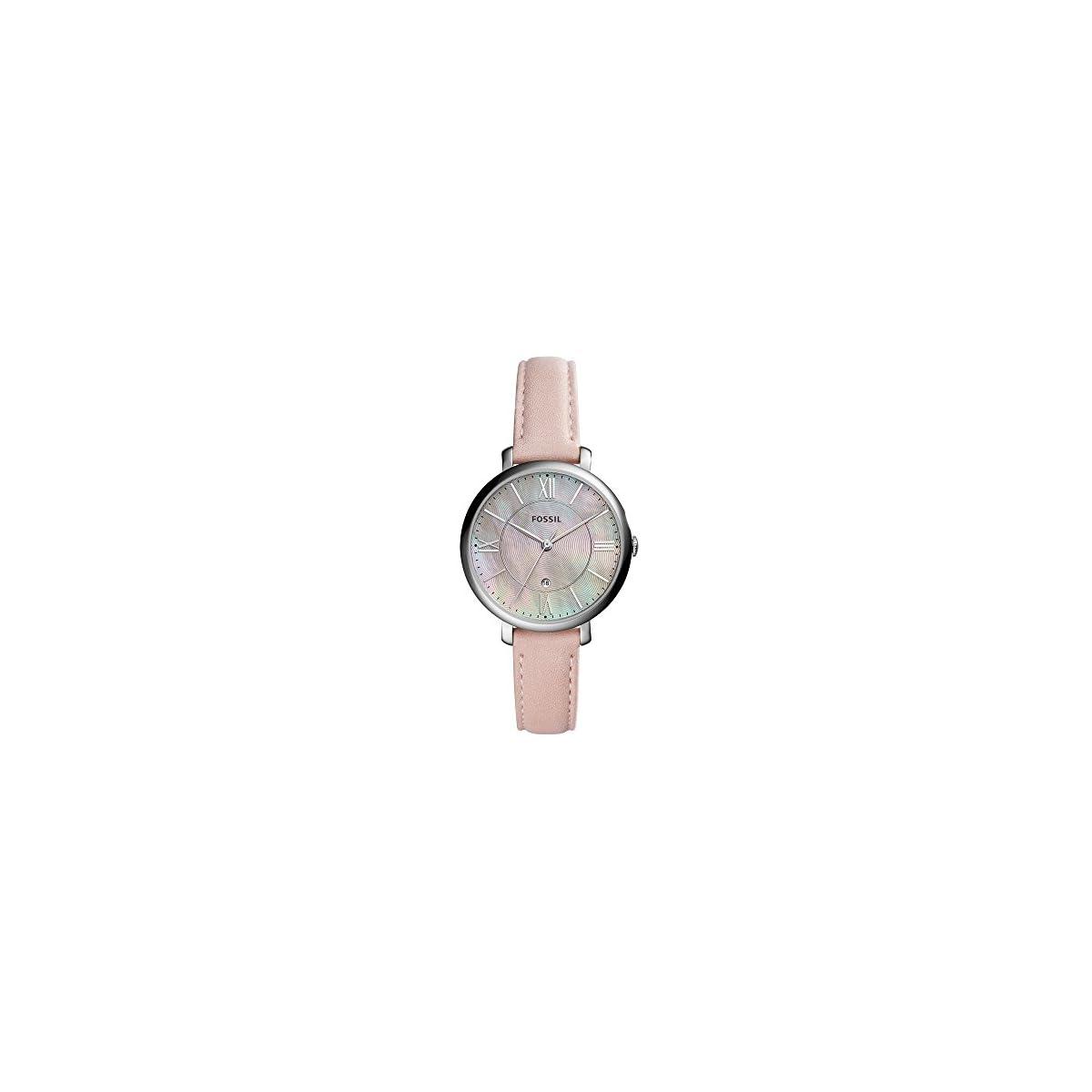 41HTBOhwzAL. SS1200  - Fossil Jacqueline Blush Reloj de cuero para mujer