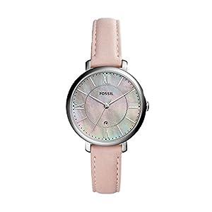 Fossil Damen-Armbanduhr Jacqueline Blush Leder