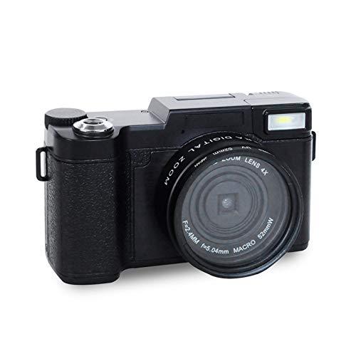 GJJ Digitale HD Kamera - Home Digitale Videokamera - Flip Screen Kamera - Selfie SLR Kamera DV,schwarz,A (Slr-kamera Flip Screen)