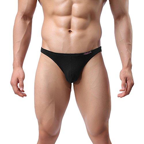 Yoliki Sexy Herren Slip Set aus Modal 4 pcs Set Männer Unterwäsche Unterhosen, Farbe Schwarz, Größe L