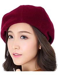 Boina de las mujeres Casquillo francés del sombrero del otoño del invierno  de las señoras del 77653814ab5