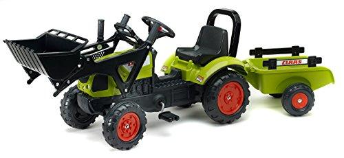 falk claas traktor Falquet & CIE–2040am–Baggerlader Claas Arion 410+ Bügel + Anhänger