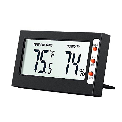 Amir Hygrometer Digital, Hygrometer Thermometer/ Digitales Thermometer Hygrometer / Digitales Thermo-Hygrometer (8.8 x 1 x 4.8cm)