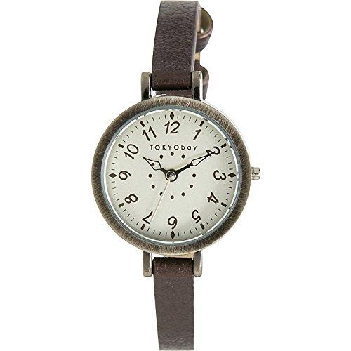 tokyobay-ladies-mabel-slim-brown-watch