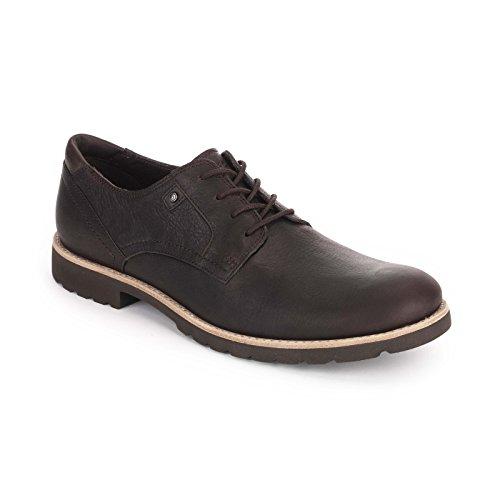 Rockport Ledge Hill Plain Toe Mens cucita Brn - (Mens Plain Toe)