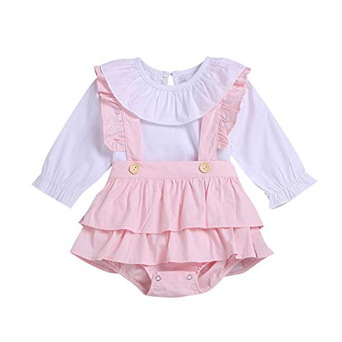 Baby Girl Pantie Rock und Shirt Top 2 Stück Outfit Puppenkragen T-Shirt und ()