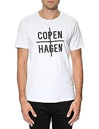 SELECTED HOMME - STATE Herren T-Shirt Oberteil Regular Fit 1987 WEIß - NEU