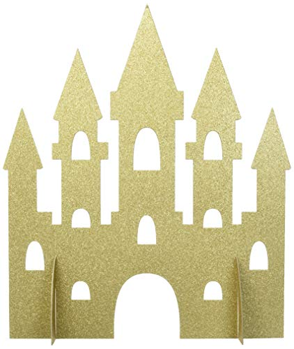 Unique Party 58378 35 cm gold Glitter Princess Castle Tisch Dekoration (Dekorationen Party Prinzessin)
