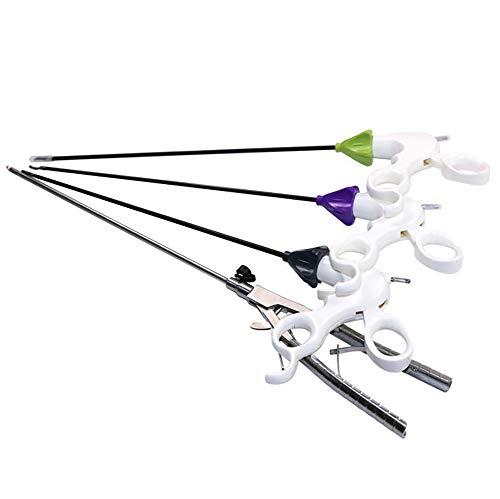 D&F Laparoskop Trainingsgerät,Zange,Schere,greifer,Nadelhalter 4 Chirurgische Instrumente Pädagogische Ausrüstung 330 * 5 mm - Chirurgische Medizinische Instrumente