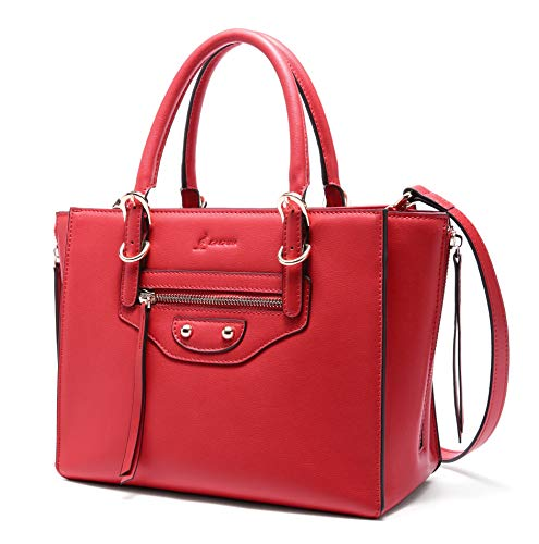 lalpina Damen Handtasche aus echtem Leder mit Griff und Schultertasche