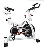 Preisvergleich für Binghotfire Profi Indoor Cycle CY-S501 Gepolsterter Armauflage mit LCD Display Komfortsattel, Pulsmessung - Speedbike mit Flüsterleisem Riemenantrieb bis 120 kg belastbar (Weiß)