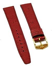 Fortis Reloj de pulsera Cuero Rojo con costuras rojas 14mm oro nuevo 8514