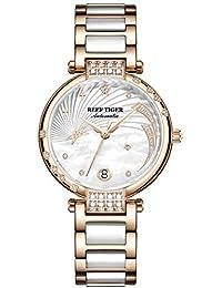 Reef Tiger RGA1592 - Reloj de Pulsera para Mujer (Esfera con Diamante, automático,