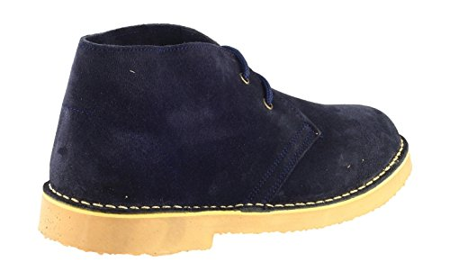 Cotswold Mens Sahara Lace Up Suede Leather Lined Desert Boot Navy Navy