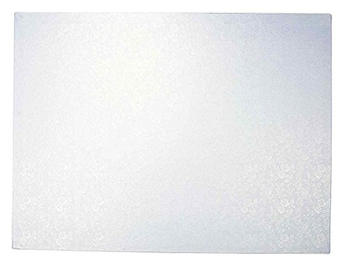 Städter 900042 Cake Board, plat à gâteau rectangulaire plateau à gâteau, plastique, blanc, 40 x 30 x 2 cm,
