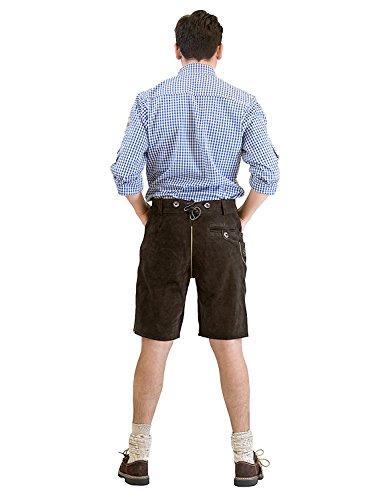 'Uomo Trachten breve pantaloni in pelle Seppl, incluso H del veicolo, Altbraun, von Waller tracht Moden, Gr. 44–62 altbraun