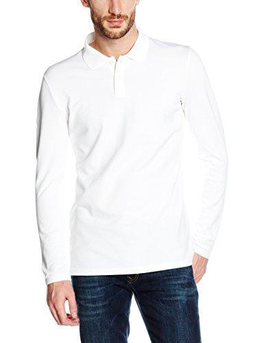 Trigema Herren Langarm Poloshirt 626651 Weiß (weiss 001)