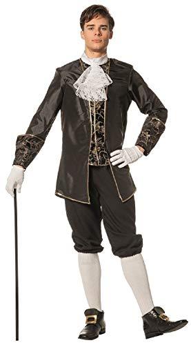 W5084C-58 schwarz Herren Marquisen Kostüm Barock Anzug Gr.58