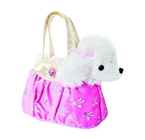 Aurora Fancy Pals Hund Chihuahua Pudel Schimmer-Tasche Mädchen Plüsch Stofftier: Art: Pudel in rosa Tasche