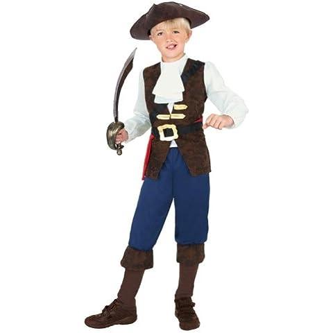 Smiffy's - Disfraz de pirata jack para niño, talla L (única) (38664L)