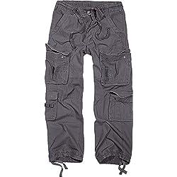 Brandit Pure Vintage Trouser - Pantalon Homme Pantalon De Combat - Anthracite XXL