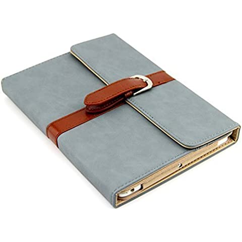 Funda de viaje estilo vintage para iPad Mini. Elegante y exclusiva. Textura agradable. Color azul.
