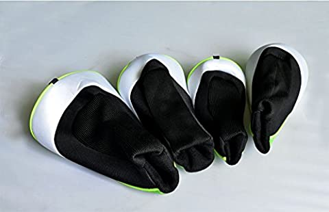 4/Set Golf Hybrid Club Holz Klinge Schlägerhaube Head Cover mit austauschbaren Mesh-Synthetik Schutz Kofferraum Putter Set, schwarz